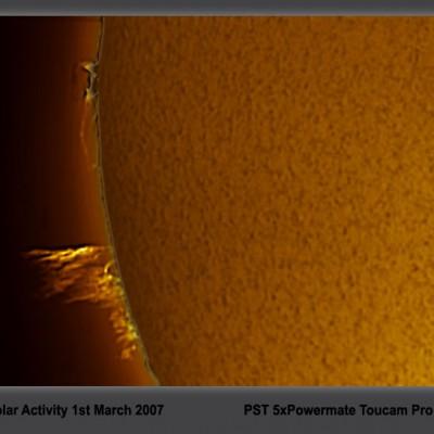 sun 1 march hydrogen alpha